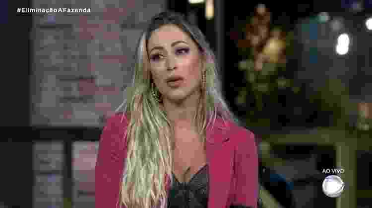 Carol Narizinho - 5º eliminada - Reprodução/RecordTV - Reprodução/RecordTV