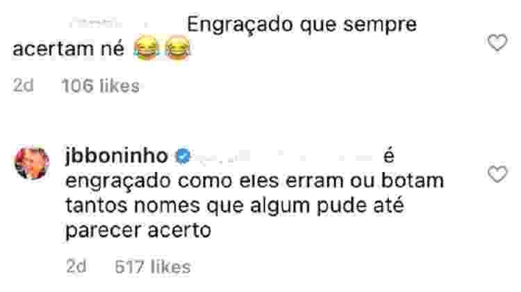 Boninho - Reprodução/Instagram @jbboninho - Reprodução/Instagram @jbboninho