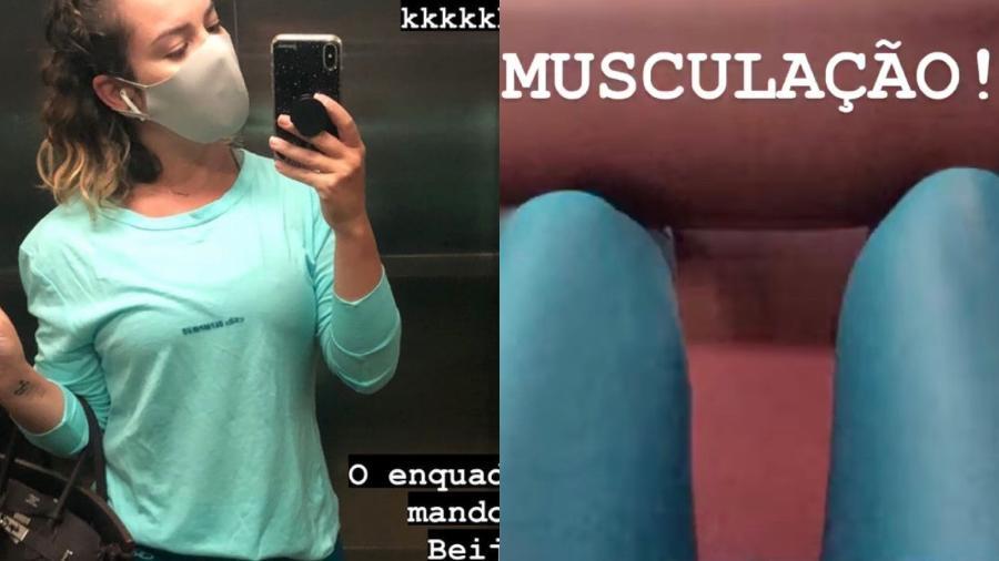 Fernanda Souza registra dia de musculação - Reprodução/ Instagram @fernandasouzaoficial