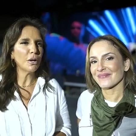 Ivete Sangalo e Claudia Leitte em preparação para live - Reprodução/Instagram @claudialeitte