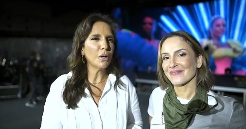 Ivete Sangalo e Claudia Leitte em preparação para live