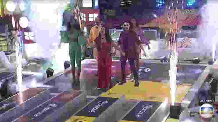 BBB 21: Brothers falam bordão dos Power Rangers na festa do top 5 - Reproduçãp/ Globoplay - Reproduçãp/ Globoplay