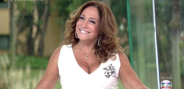"""Na bancada do """"Vídeo Show"""", Susana Vieira canta """"Per Amore"""" - Reprodução/TV Globo"""