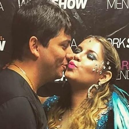 Marília Mendonça ganha beijo de Yugner Ângelo - Reprodução/Instgram/mariliamendonçacantora