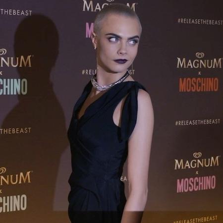 A top model Cara Delevingne, em evento paralelo ao Festival de Cannes - Reprodução/Instagram