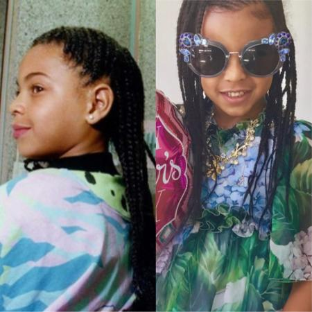 Beyoncé e Blue Ivy: mãe e filha ou gêmeas? - Reprodução/Instagram