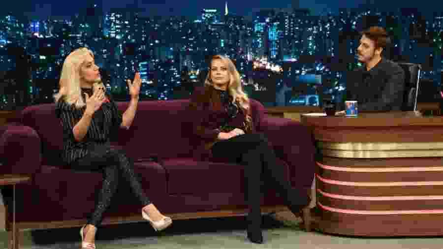 "Mariane Dombrova e Jackeline Petkovic  no ""Programa do Porchat"" - Antonio Chahestian/Record TV"