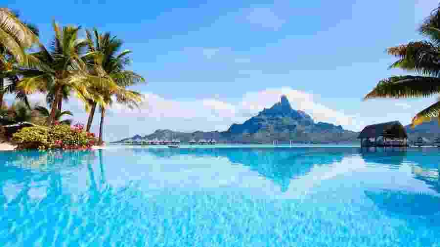 Bora Bora, ilha na Polinésia Francesa, no Oceano Pacífico - Getty Images