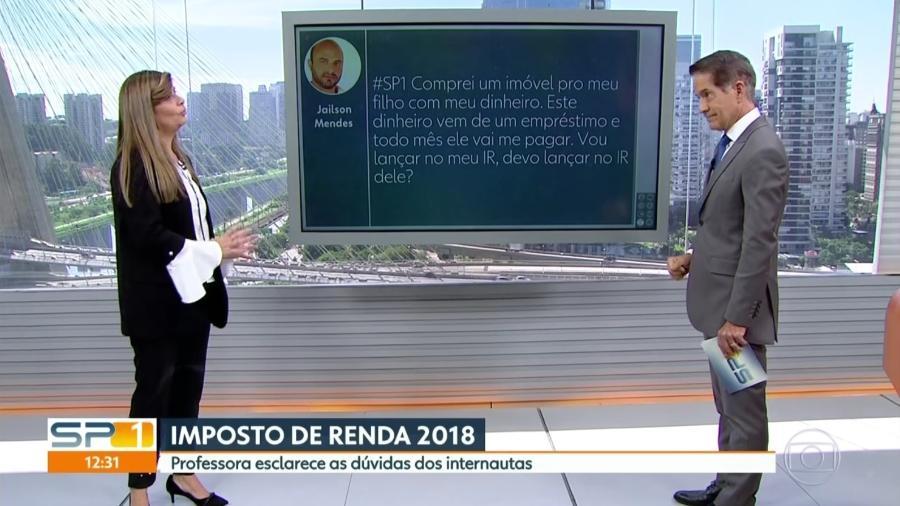 """Carlos Tramontina cai em meme pornô durante o """"SP1"""", telejornal da Globo - Reprodução/TV Globo"""