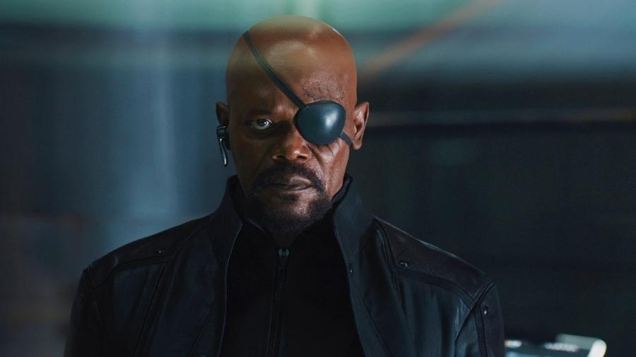 O ator Samuel L. Jackson como Nick Fury - Reprodução
