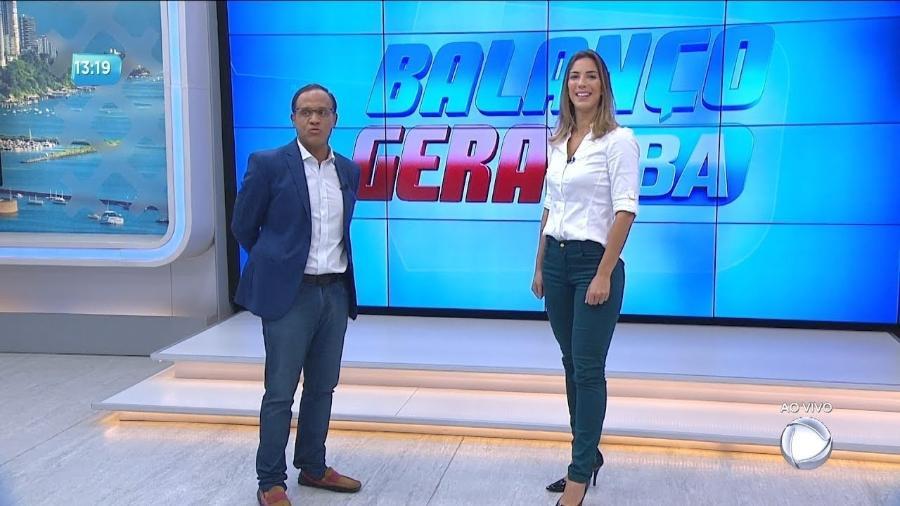 Os âncoras Zé Eduardo (Balanço Geral BA) e Jessica Smetak (Bahia No Ar), ambos da Record Bahia - Divulgação