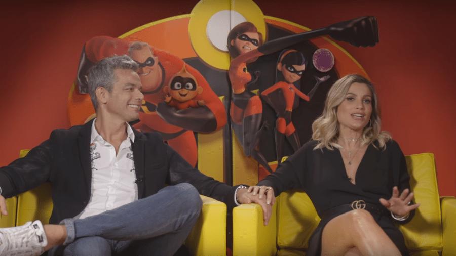 """Otaviano Costa e Flávia Alessandra estão no time de dubladores de """"Os Incríveis 2"""" - Reprodução"""