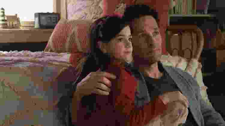 Scott Lang (Paul Rudd) ao lado da filha em cena de Homem-Formiga e a Vespa - Marvel Studios