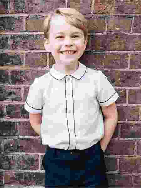 Príncipe George em novo clique; ele vai completar cinco anos neste domingo!  - Reprodução/Instagram - Reprodução/Instagram