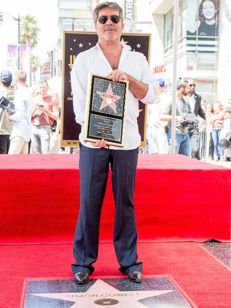 Simon Cowell é homenageado em Hollywood - Rich Fury/Getty Images/AFP