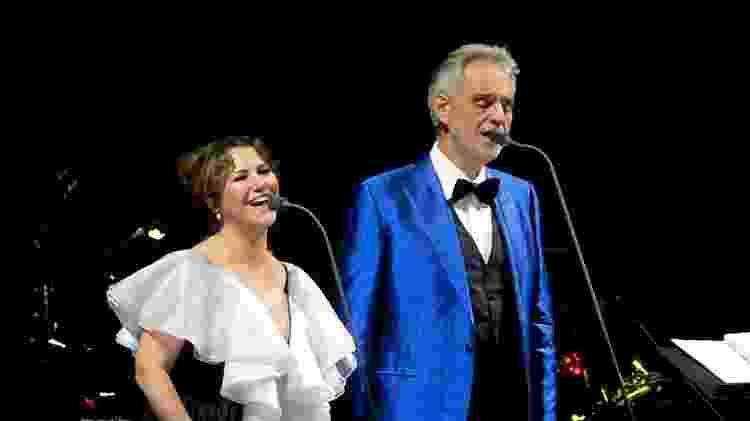 Maria Rita cantou ao lado de Andrea Bocelli - Francisco Cepeda/Agnews