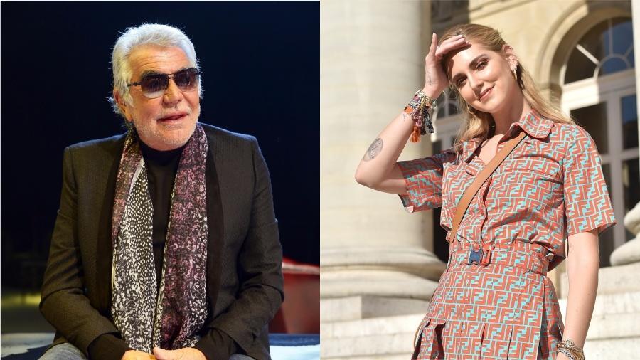 O estilista Roberto Cavalli e a influenciadora Chiara Ferragni - Getty Images