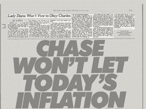 """Jornal que estampava a matéria: """"Lady Diana não obedecerá a Charles"""" - Reprodução/The New York Times"""
