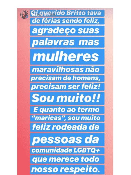 Luana Piovani rebate comentário de Britto Jr. - Reprodução/Instagram
