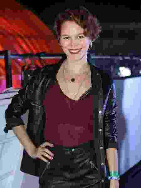 Joana de Verona nos bastidores do Rock in Rio na sexta-feira  - Divulgação
