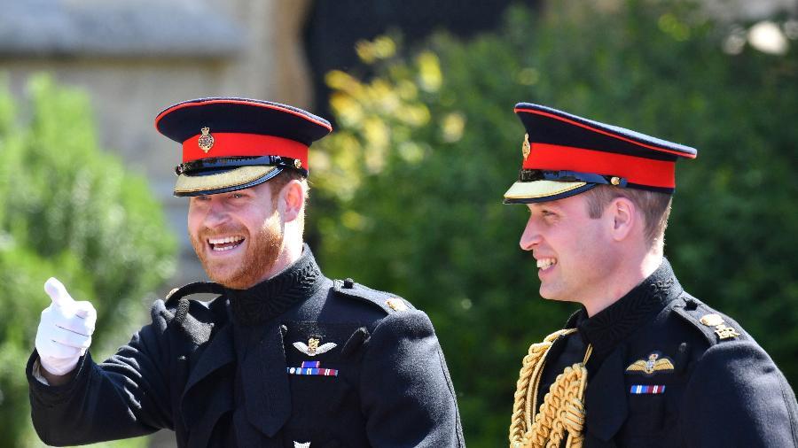 O príncipe Harry, duque de Sussex, com o irmão mais velho, o príncipe William, duque de Cambridge - Getty Images