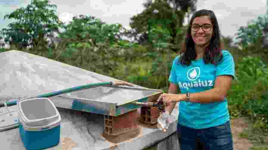 Com o Aqualuz, Anna Luísa Beserra, 21, foi a primeira brasileira a ganhar a premiação máxima da ONU Meio Ambiente - ONU Meio Ambiente
