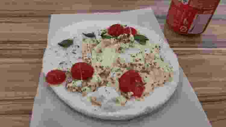 Tapioca napolitana é uma das opções gastronômicas apreciadas na CCXP - Leonardo Rodrigues/UOL - Leonardo Rodrigues/UOL