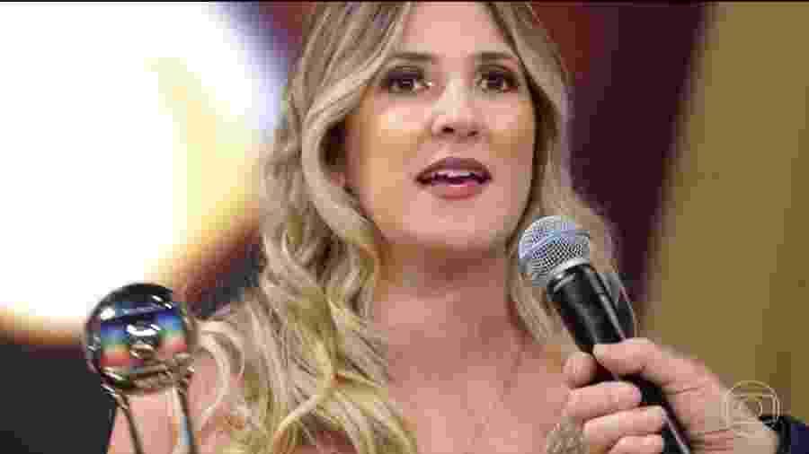 Dani Calabresa ganha Troféu Domingão na categoria Comédia - Reprodução/Globo
