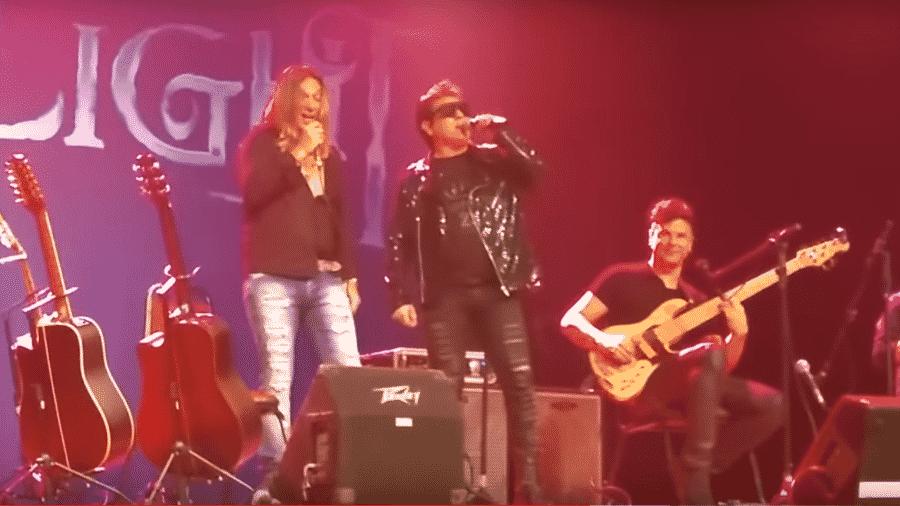 Daniel Diau fez dueto com Edu Falaschi em show em Recife - Reprodução/YouTube