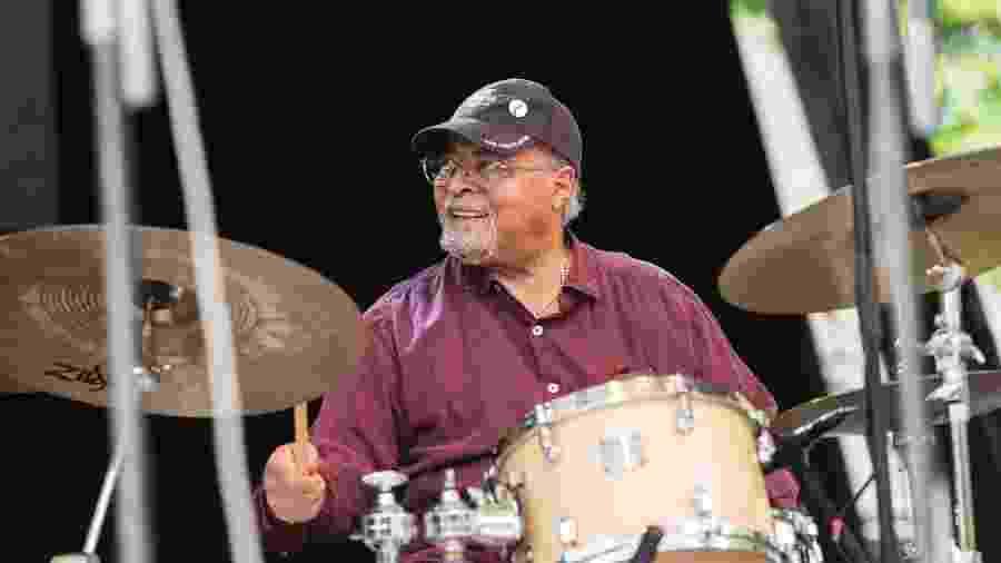 06.06.2015 - Jimmy Cobb toca no Blue Note Jazz Festival, em Nova York (EUA) - Jack Vartoogian/Getty Images