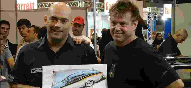 Teco Caliendo com Chip Foose no X-Treme Motorsports 2009 - Fernando Marques/NoTrânsito.com