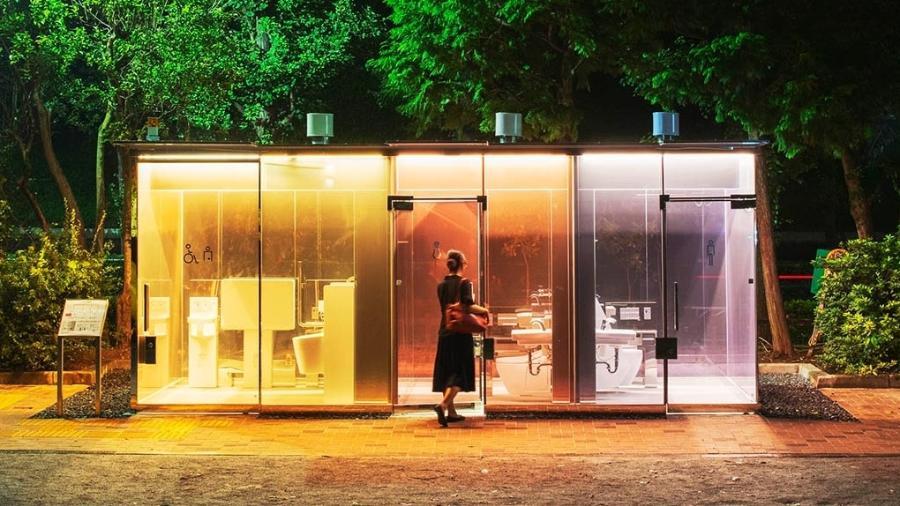 As paredes se tornam opacas quando a porta é trancada, então é muito importante se lembrar da fechadura para garantir privacidade - Satoshi Nagare
