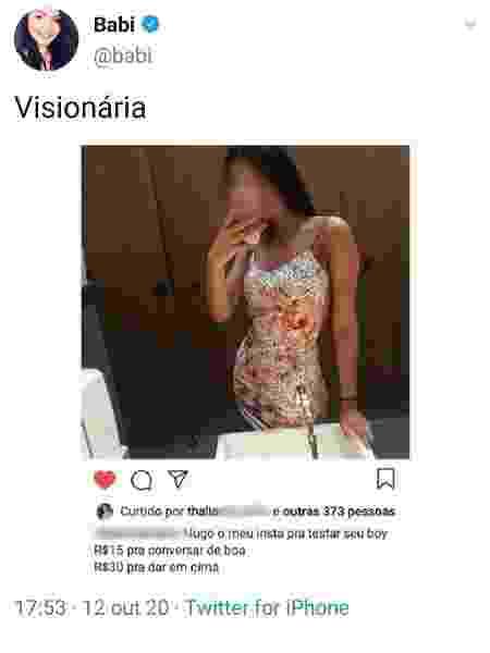 Bianca Matos: visionária - reprodução/Twitter - reprodução/Twitter