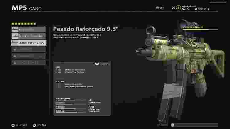 Call of Duty Black Ops Cold War arma MP5 - Reprodução/START - Reprodução/START