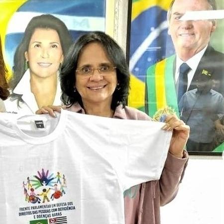 A ministra Damares Alves visitou o gabinete da deputada estadual Valeria Bolsonaro (PSL-SP) na Alesp (Assembleia Legislativa de SP), na segunda (14) - Reprodução/Instagram