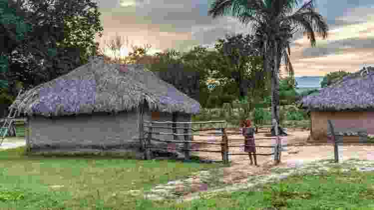 Casa em comunidade do Quilombo Kalunga, em Goiás, que entre 2019 e 2021 mapeou seu território por meio de georreferenciamento - André Dib/ISPN - André Dib/ISPN