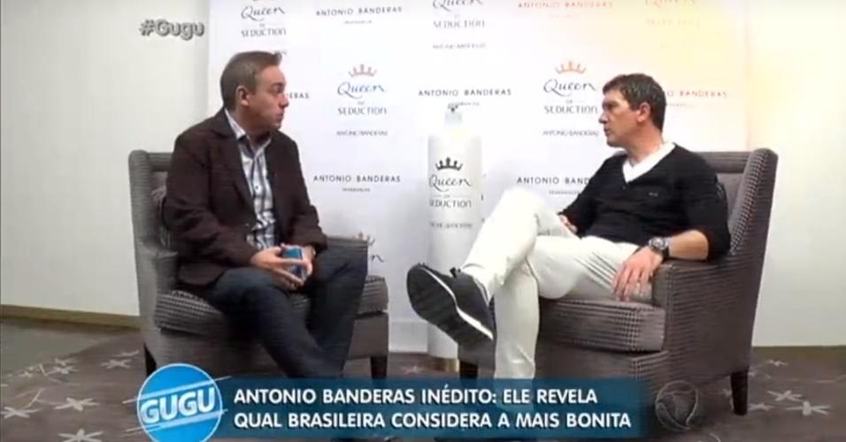 20.jul.2016 - Antonio Bandeiras fala sobre a beleza das mulheres brasileiras em entrevista ao