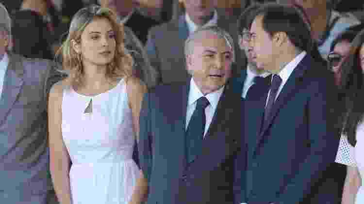 Marcela Temer usou o vestido branco pela primeira vez na parada de 7 de setembro em 2016 - Pedro Ladeira/Folhapress