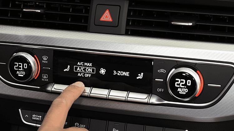 Ar-condicionado mais moderno (normalmente de carros mais caros) pode ter até três zonas de resfriamento - Murilo Góes/UOL