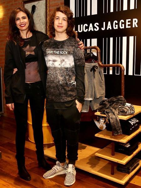 Luciana Gimenez e o filho Lucas Jagger - Manuela Scarpa/Brazil News