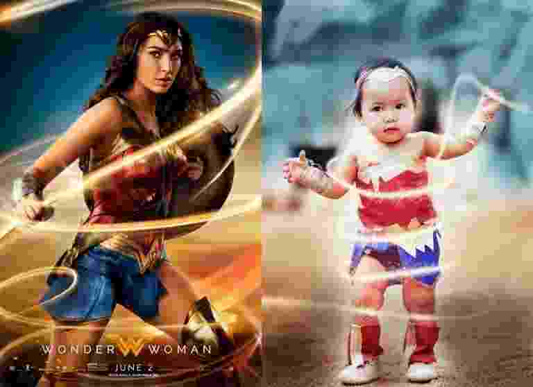 """Bebê vira """"Mulher Maravilha"""" - Reprodução/www.jmotivephotography.com"""