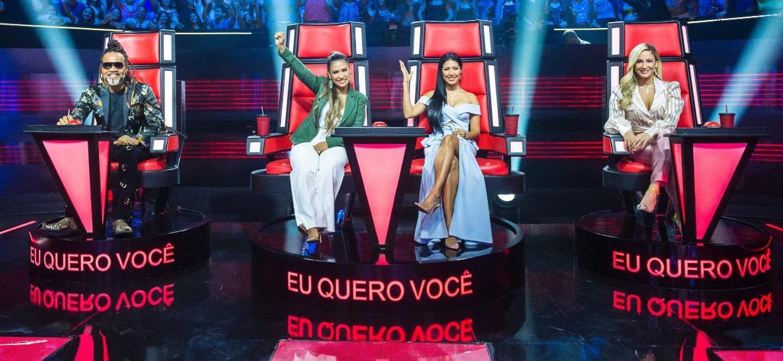 """Os técnicos da terceira temporada do """"The Voice Kids"""" - Globo/João Miguel Júnior"""