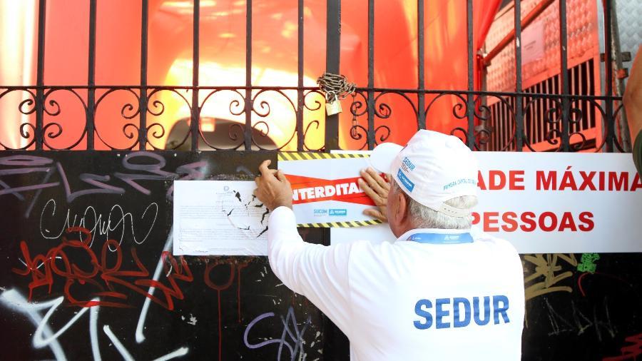 """Camarote Casa D""""Itália, na capital baiana, foi interditado pela prefeitura - Divulgação/Sedur"""