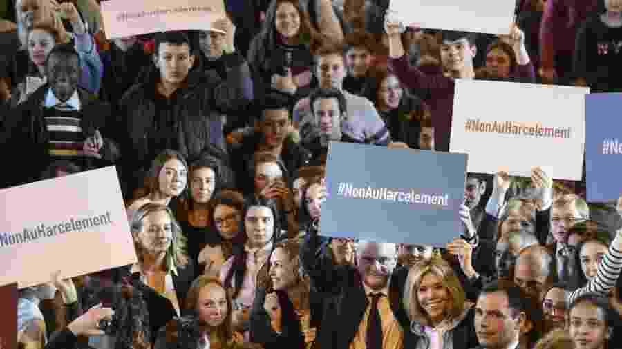 Igualdade de gênero foi uma das principais pautas da campanha do presidente Emmanuel Macron - AFP