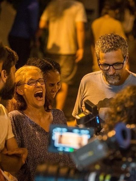 "Sonia Braga no set de ""Bacurau"" - Victor Jucá/Reprodução/Instagram"