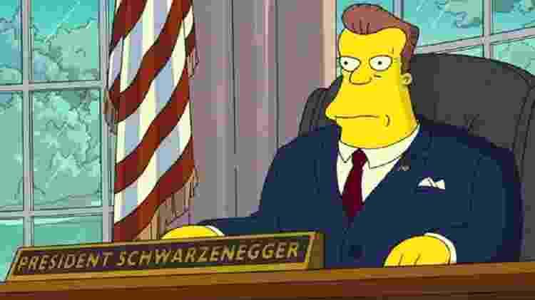 """Arnold Schwarzenegger é o presidente dos Estados Unidos em """"Os Simpsons - O Filme"""" - Reprodução - Reprodução"""