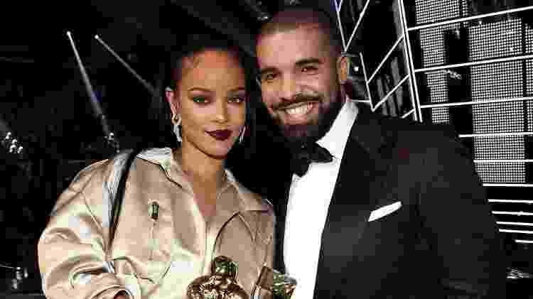Rihanna posa com Drake no VMA 2016 - Getty Images