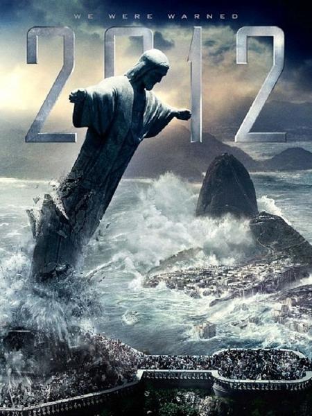 """Cristo Redentor é destruído no cartaz do filme-catástrofe """"2012"""" - Divulgação"""