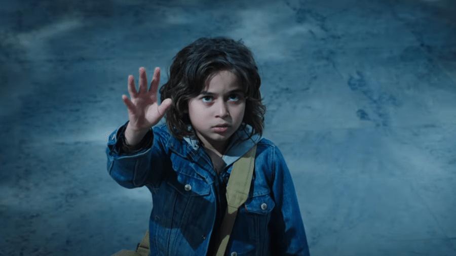 """O ator Kaan Gulder como a versão mais jovem do personagem título em """"Aquaman"""" - Reprodução/YouTube"""