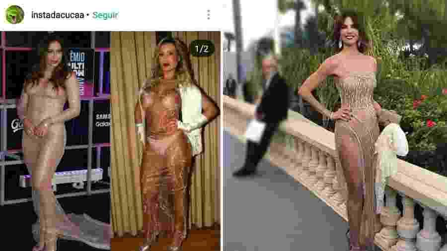 Andressa Urach, com seu look em 2014, entre Anitta e Luciana Gimenez: inspiração? - Reprodução/Instagram